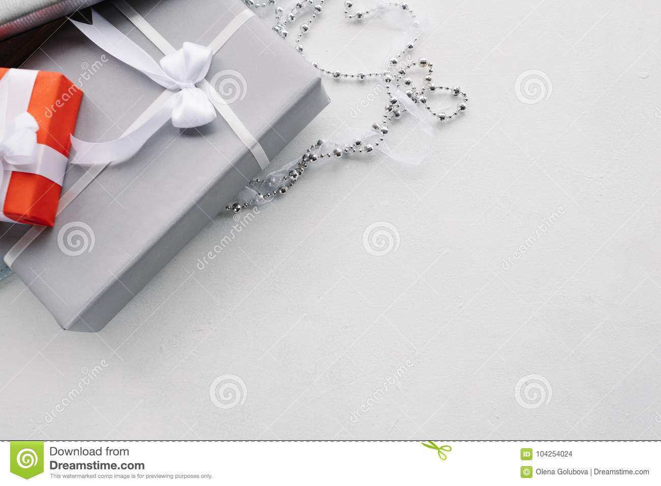 Luxury Jewelry Gift For Top Class Grey Background Stock Photo