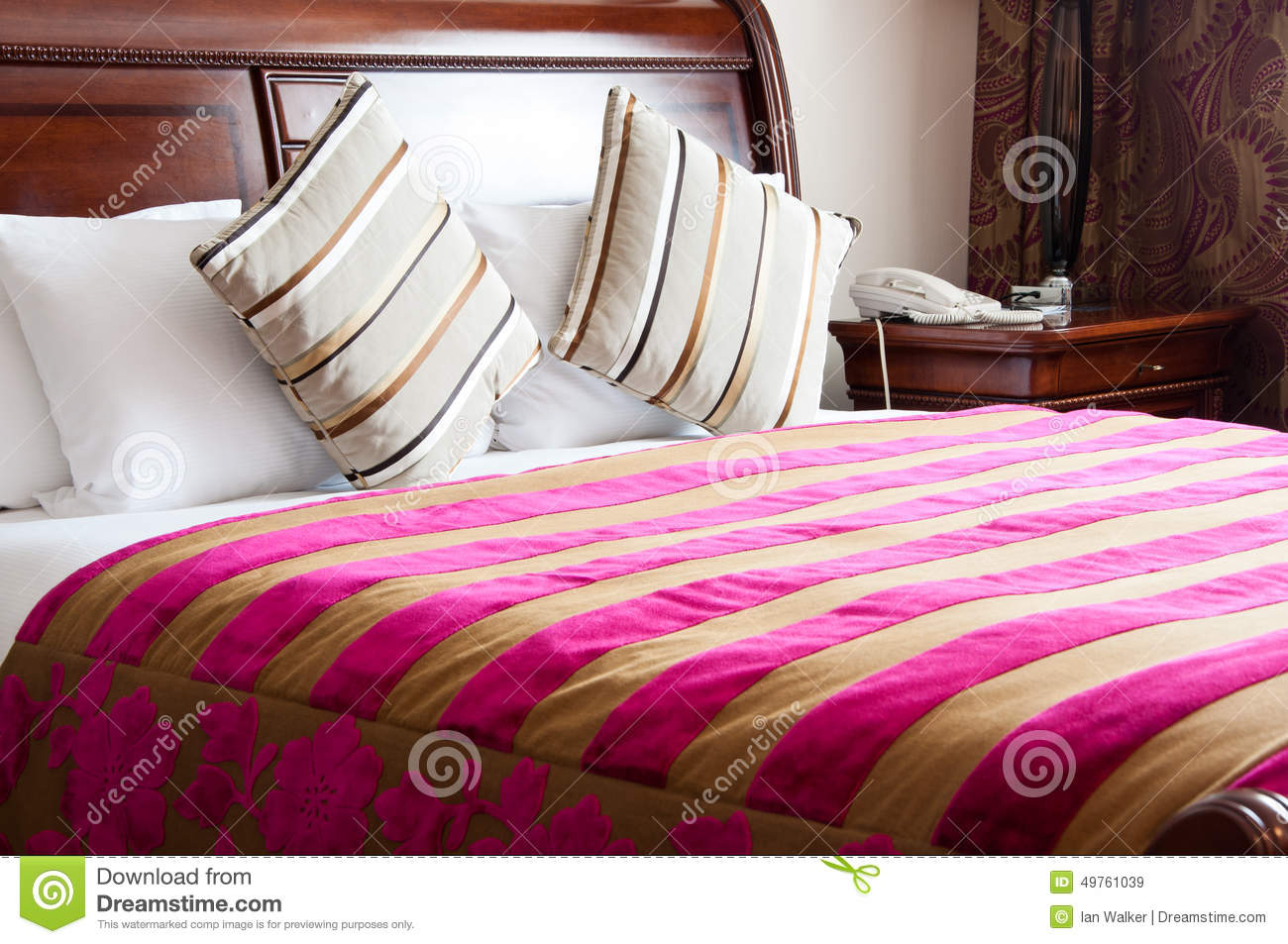 Luxury King Size Bed Stock Image Image Of Vacation 49761039