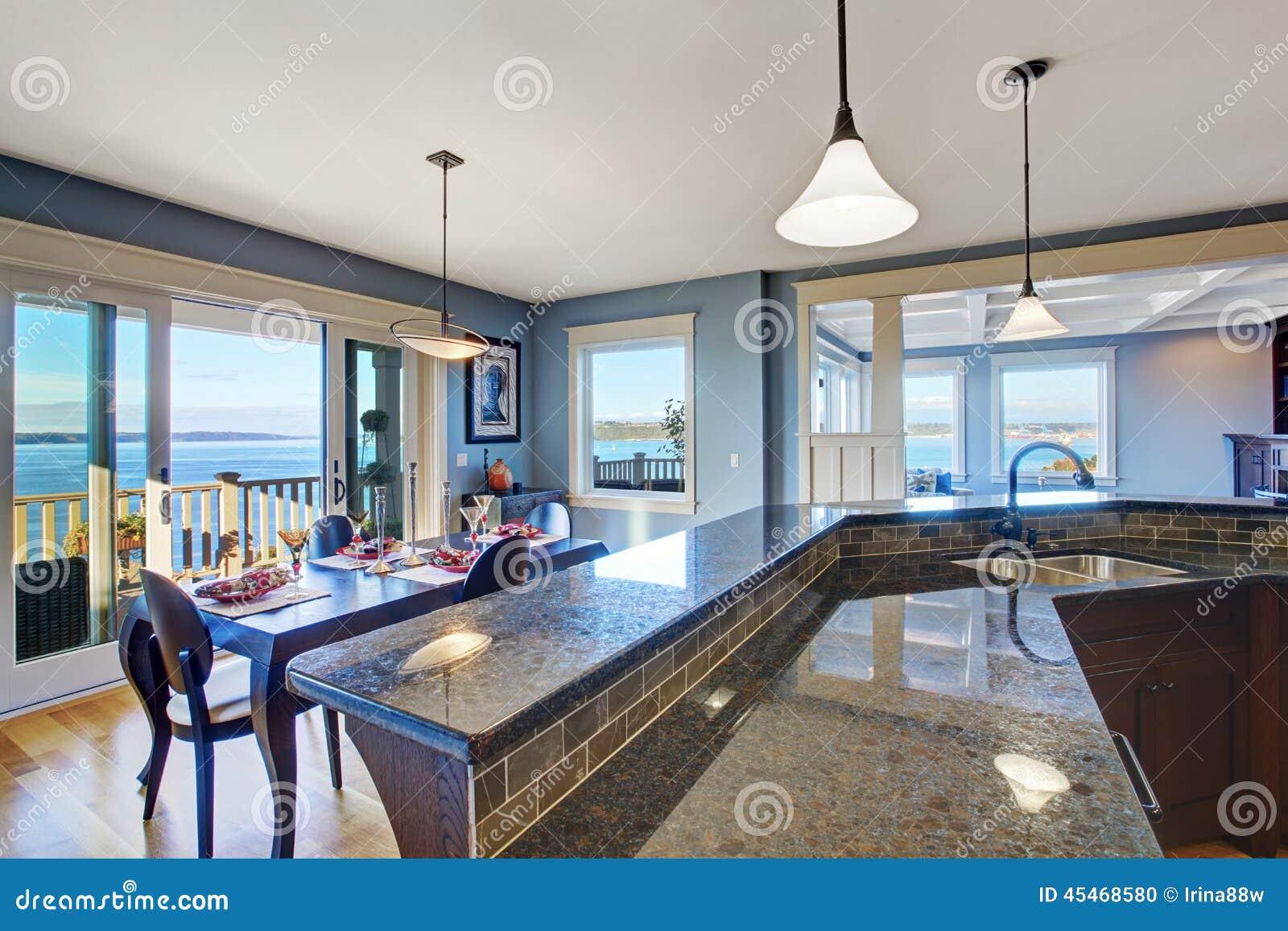 New Home Kitchen Interior Dark Brown Cabinets Stock Photos - 64 Images