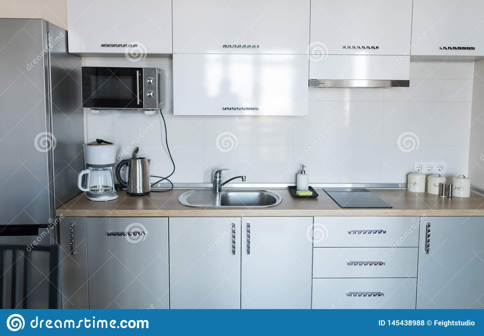 Luxury Kitchen Interior Kitchen Home Apartment Kitchen Stock Photo Image Of Appliance Business 145438988