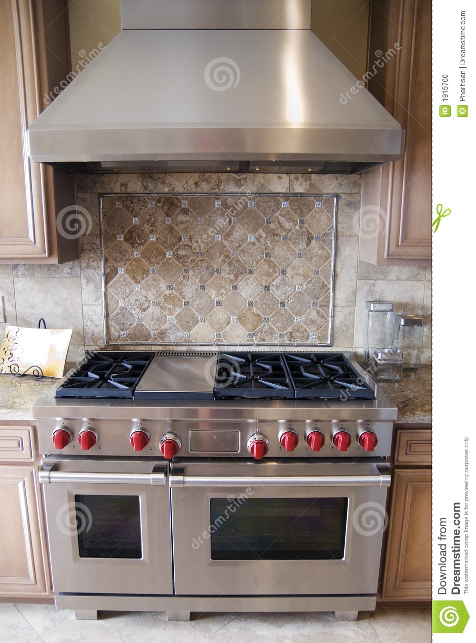 Luxury Kitchen Oven Ranfe Stock Photo Image 1915700