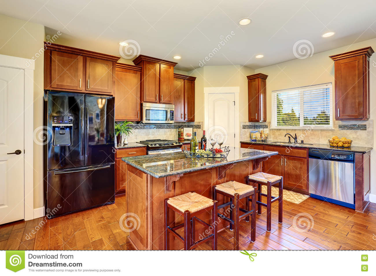 Luxury kitchen room with modern cabinets and granite counter tops stock photo image 75957012 - Luxury kitchen room ...