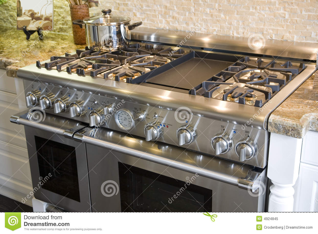 Luxury Kitchen Stove Royalty Free Stock Photo Image 4924845