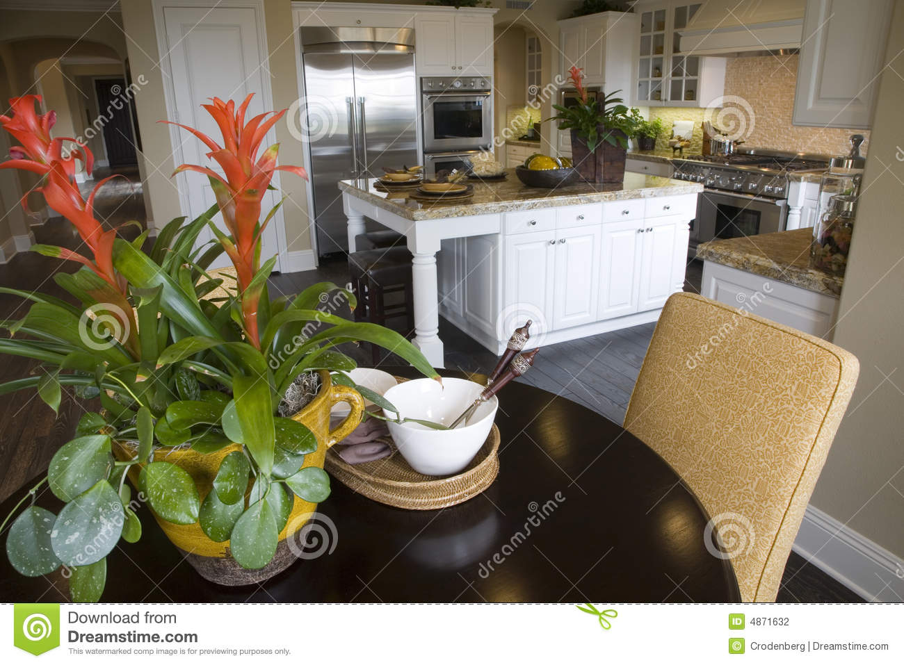 Luxury kitchen with table stock photo image of counter for Luxury kitchen table