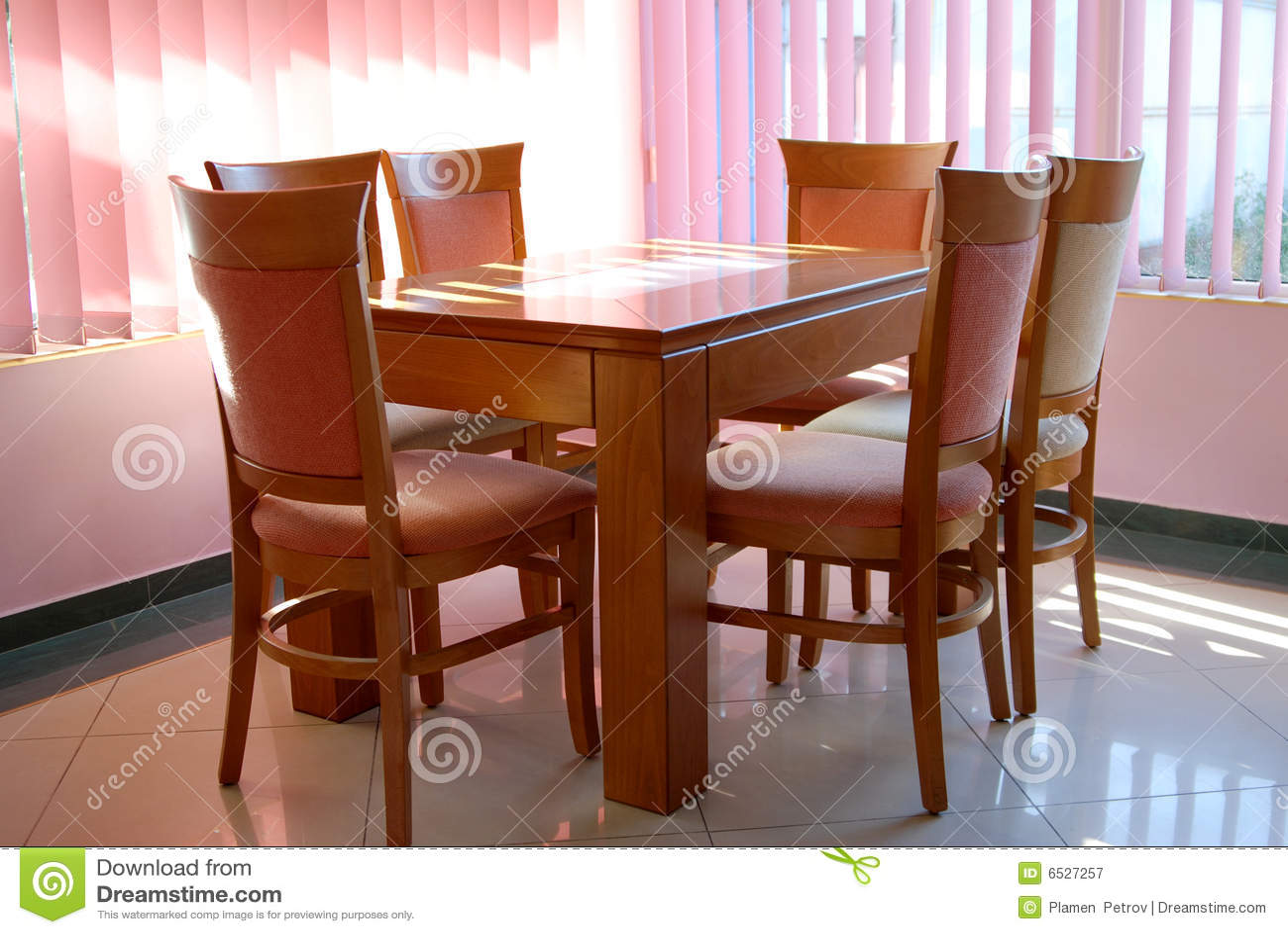 Luxury kitchen table royalty free stock photography for Luxury kitchen table