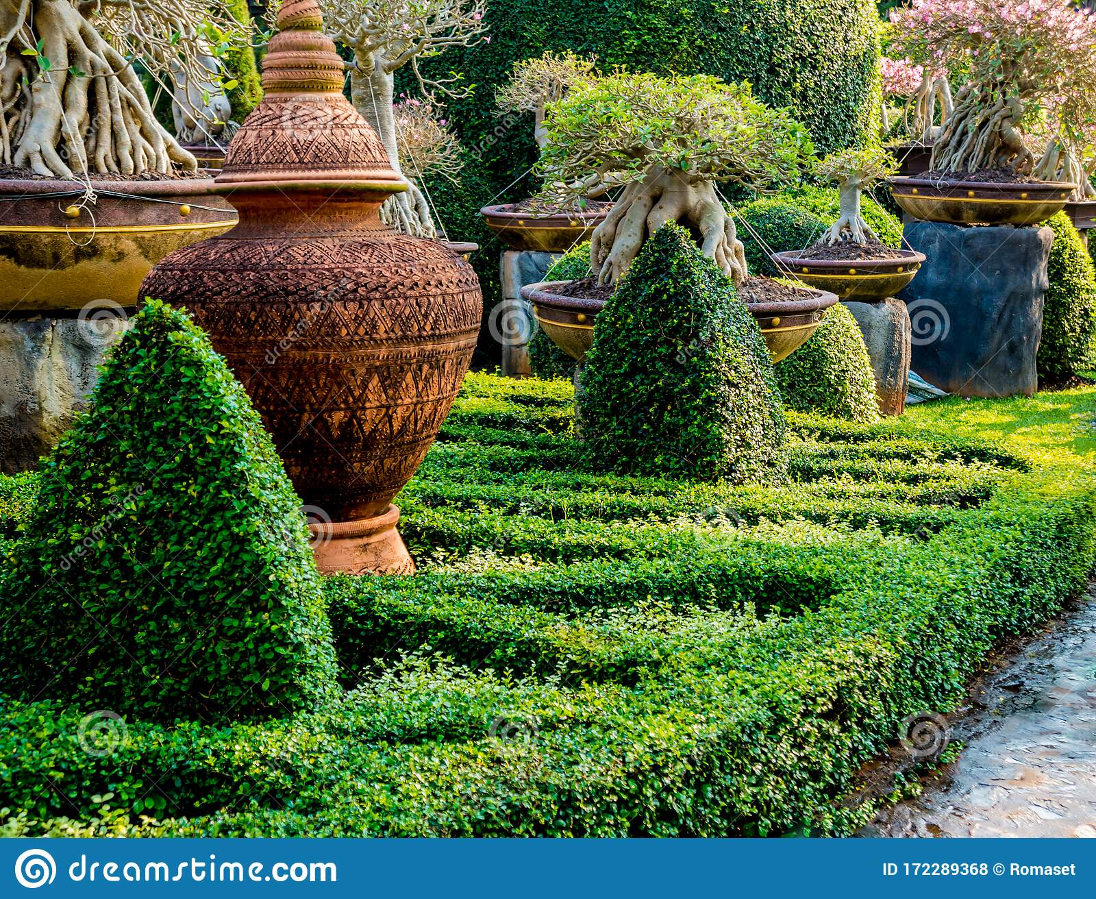Luxury Landscape Design Of The Tropical Garden Stock Photo