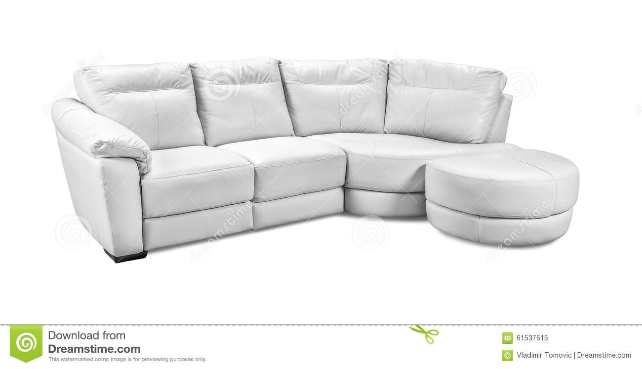 brown leather sofa isolated - photo #16