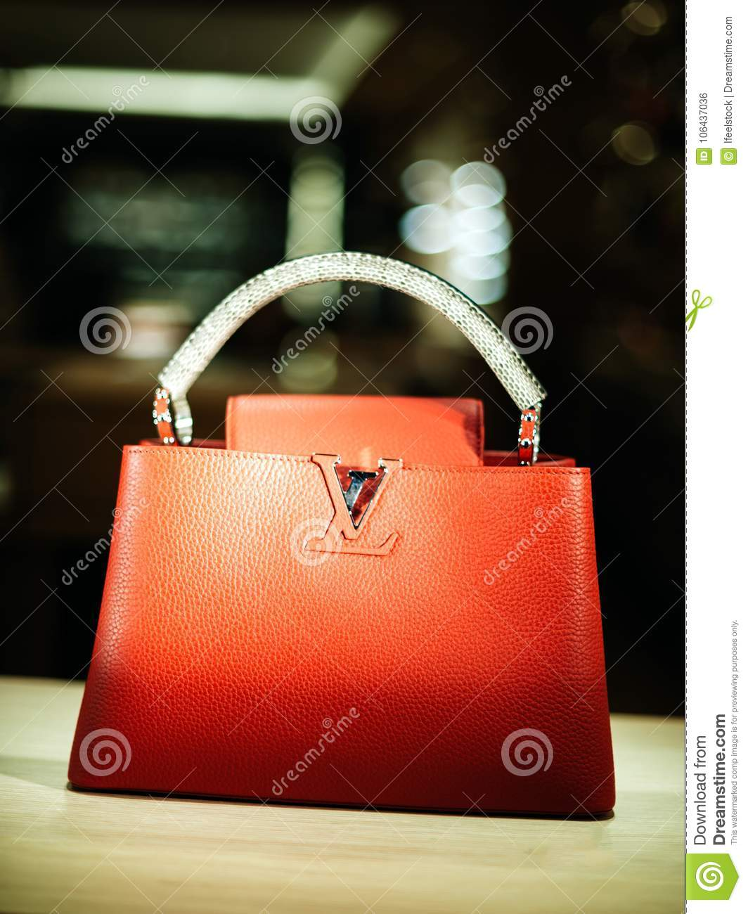 2790c0d889638 Luxury Leather Louis Vuitton LVMH Leather Bags Editorial Photo ...