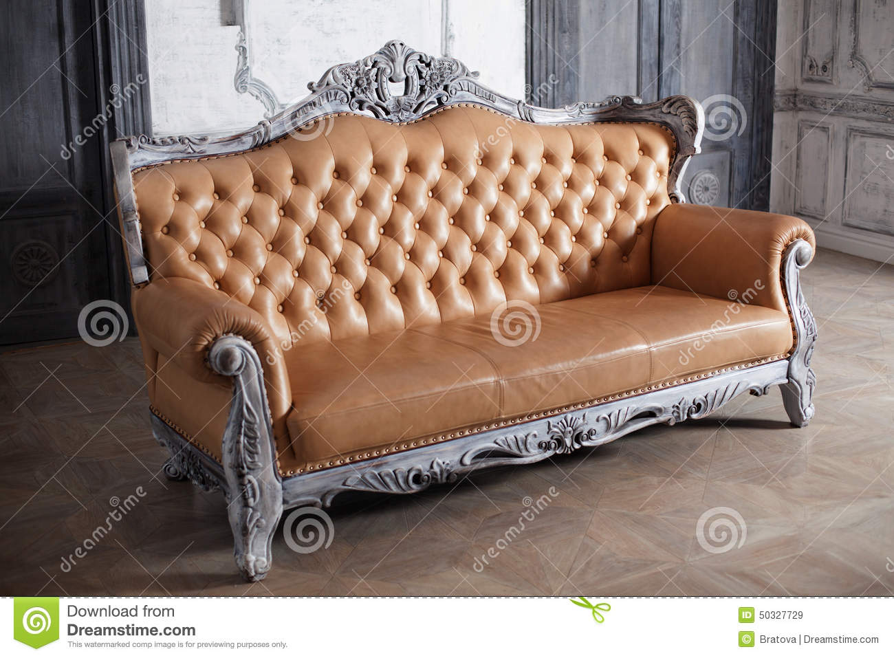 Sofa Style luxury leather sofa style borokko in a beautiful stock photo