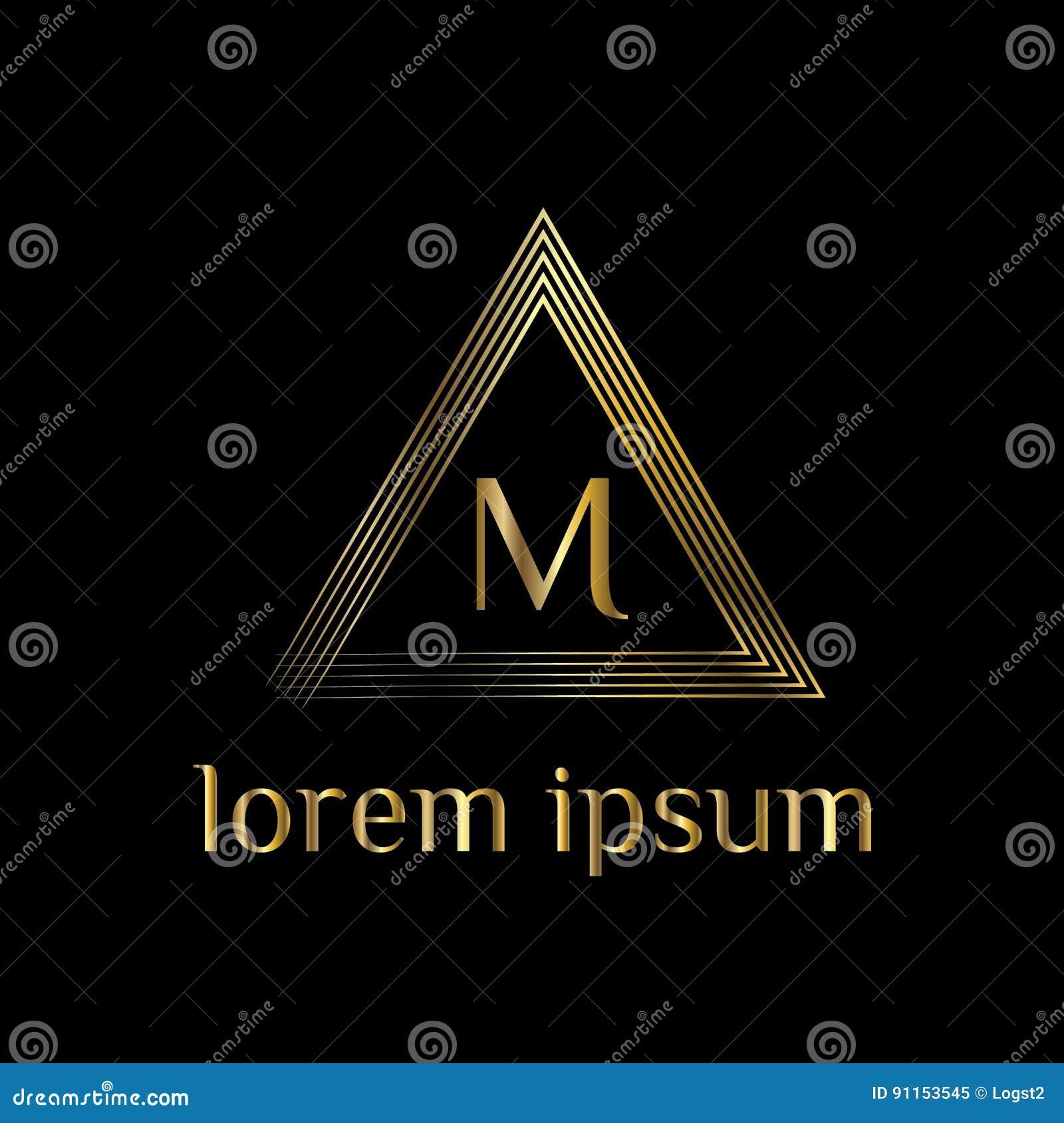luxury letter m logo vector logo template sign symbol icon vector luxury