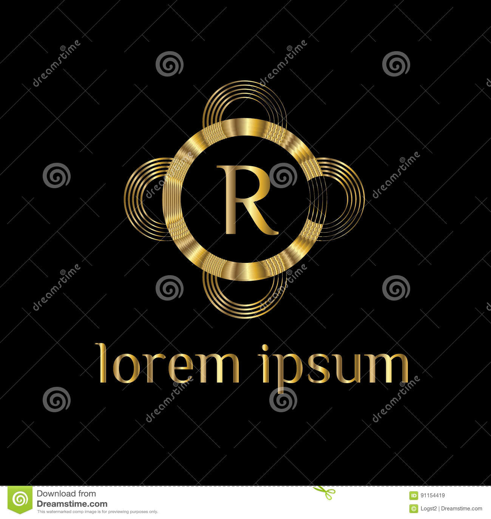 Luxury letter R Logo  Vector logo template sign  symbol  icon  vector  luxury frame. Luxury Letter R Logo  Vector Logo Template Sign  Symbol  Icon