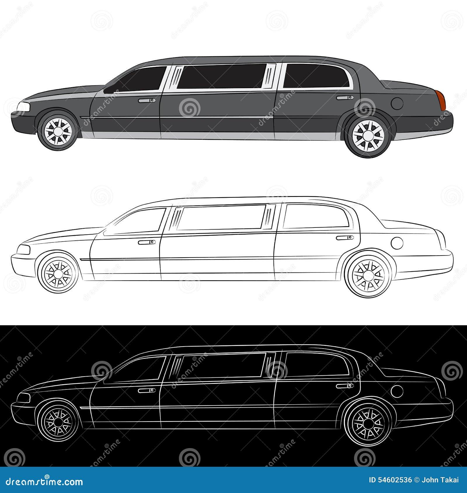 Luxury Limo Car Icon Stock Vector