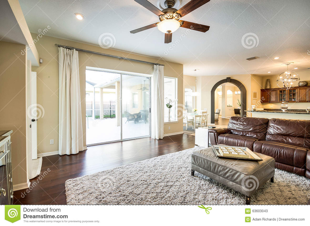 Luxury Living Stock Image Image Of Brown Leather Design