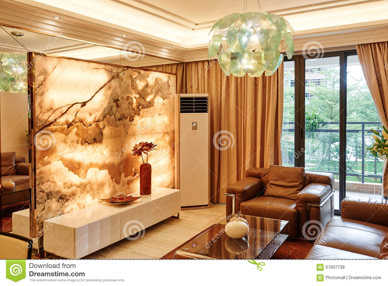 Luxury Living Room Stock Photo - Image: 57607738