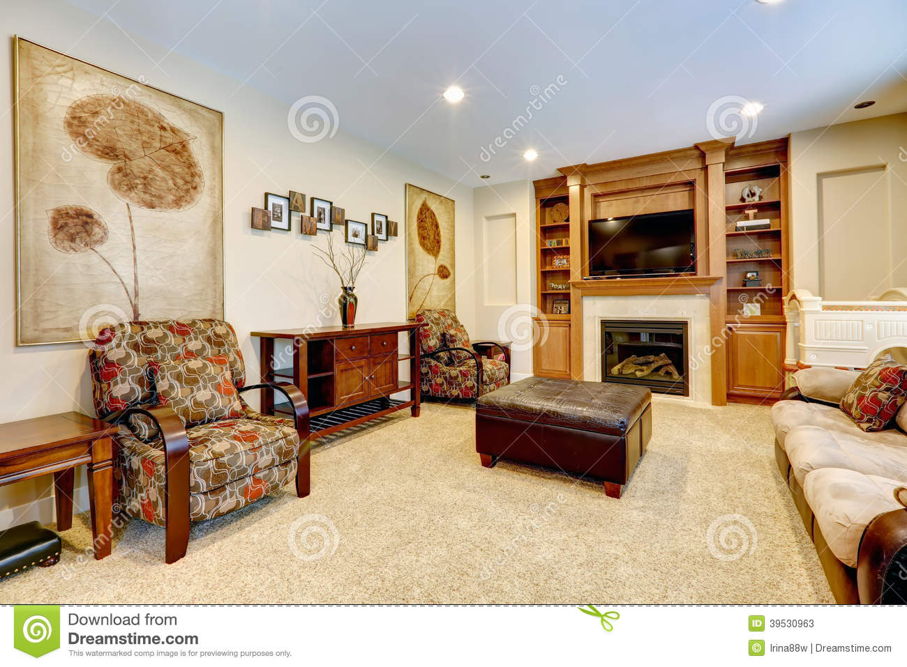 Luxury Living Rooms With Tv luxury living room with fireplace and tv stock photo - image: 39530963