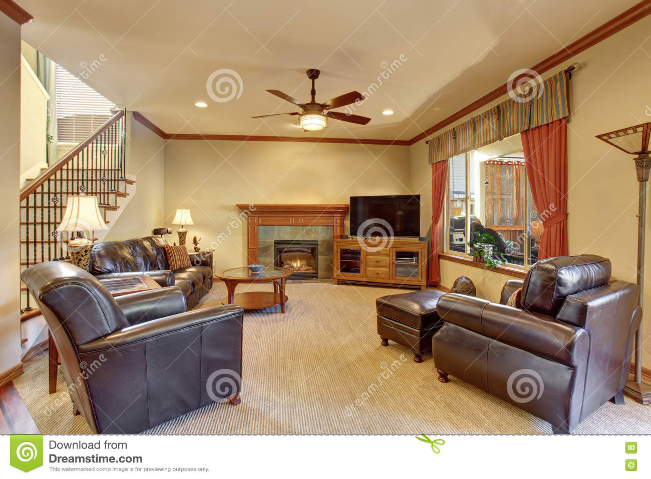 Marvelous Luxury Living Room Interior With Fireplace And Carpet Floor Caraccident5 Cool Chair Designs And Ideas Caraccident5Info