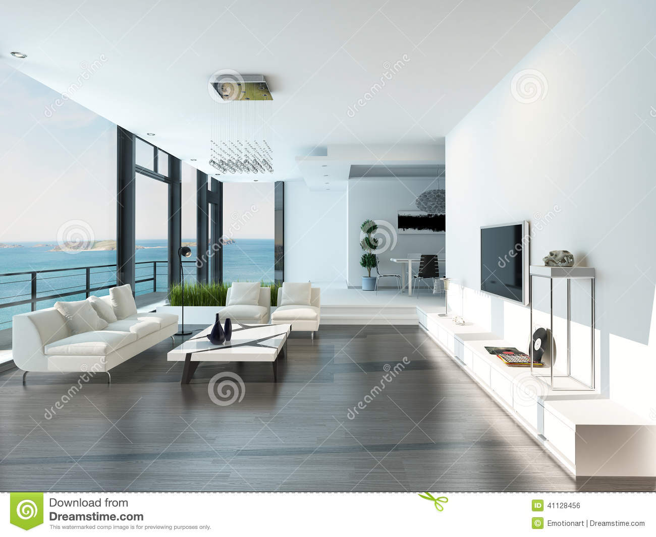 Luxury white living rooms - Royalty Free Illustration Download Luxury Living Room Interior With White