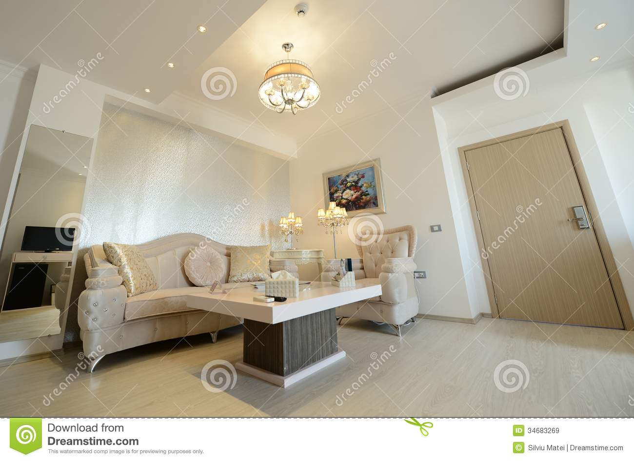 Modern hotel room interior stock photo image 18197840 - Luxury Living Room Of A Modern Hotel Royalty Free Stock