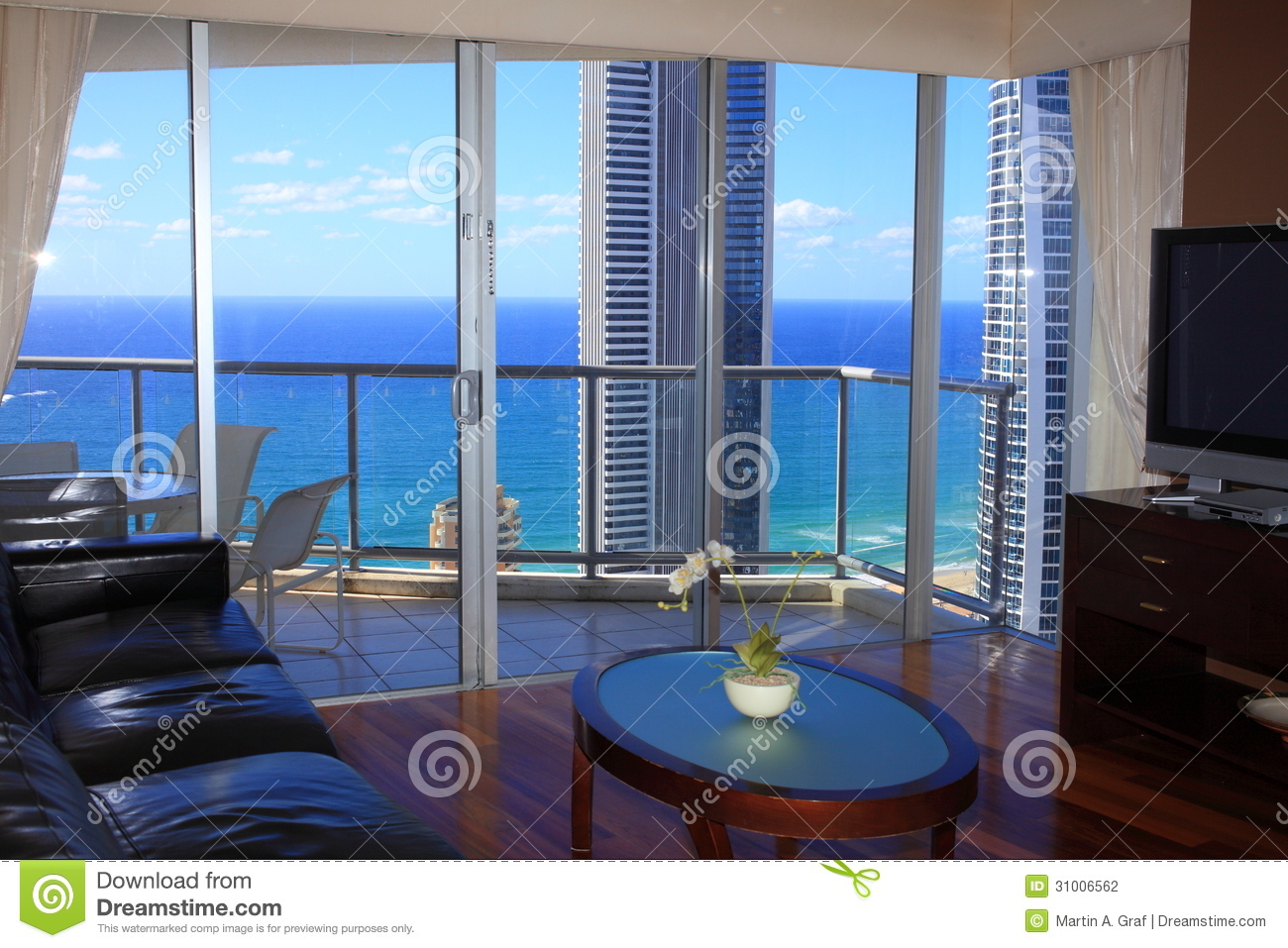 Ocean Living Room Luxury Living Room Top Floor With Ocean View Stock Photography