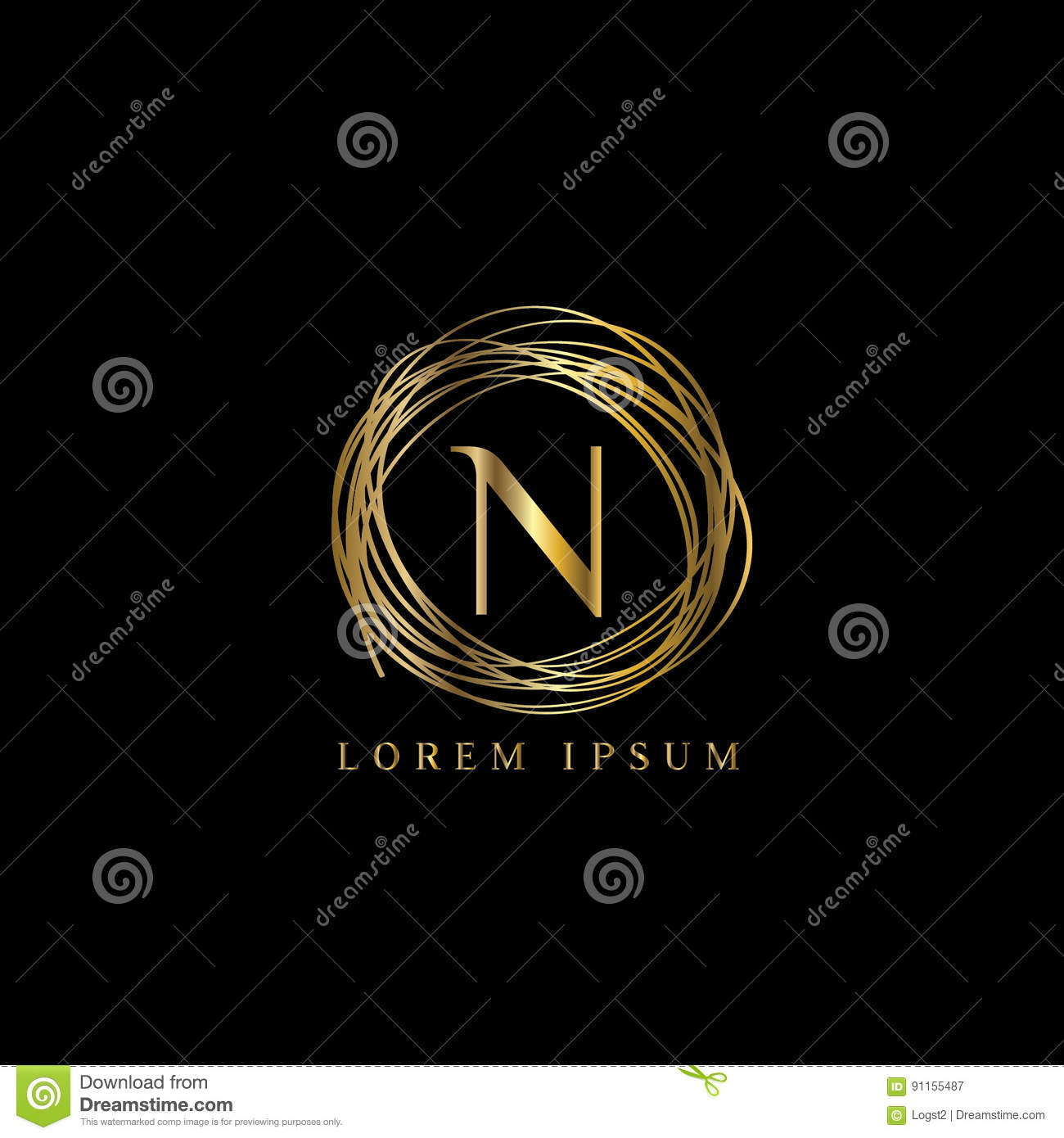 luxury logo letter n vector logo template sign symbol icon