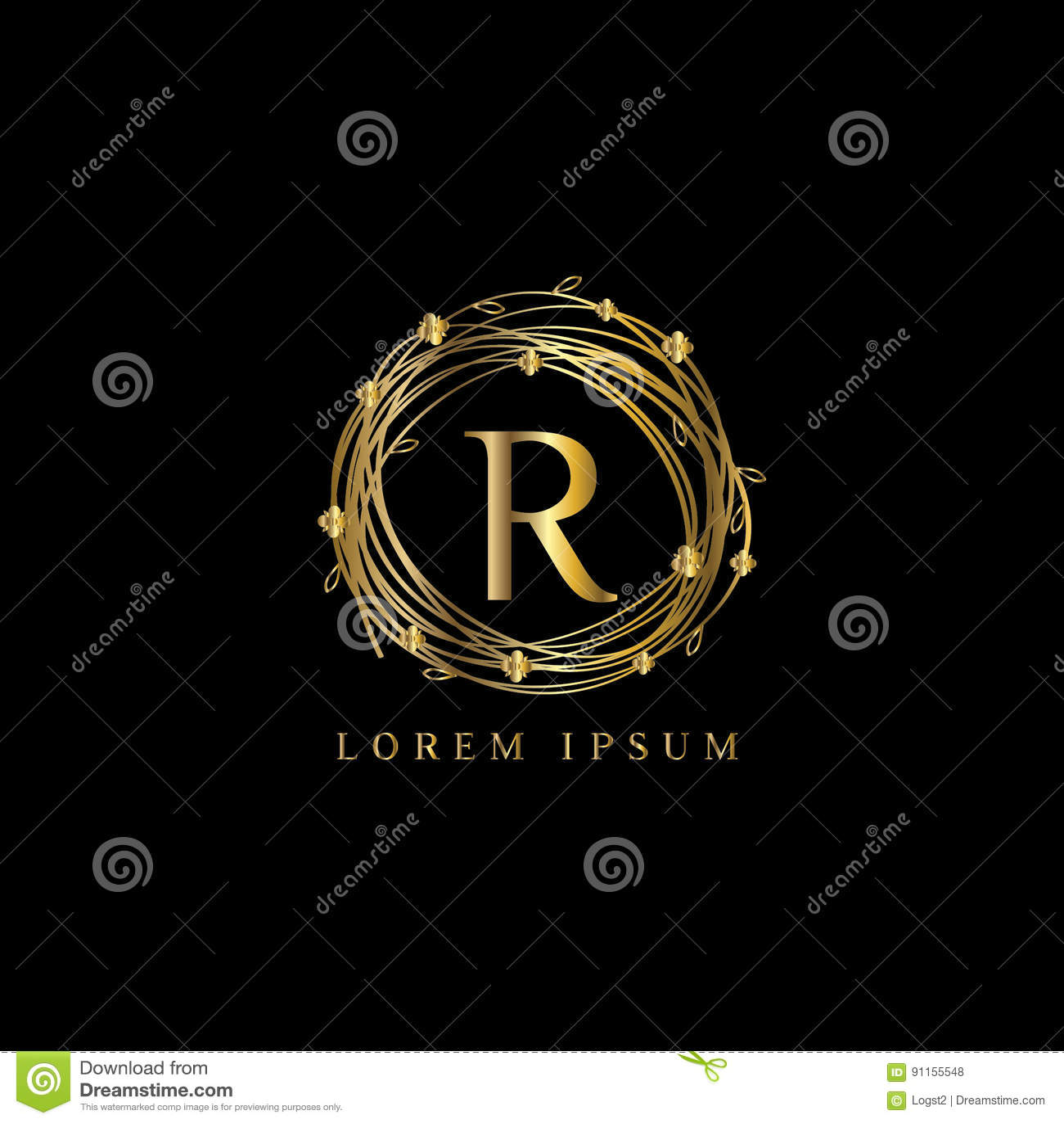 Luxury Logo letter R  Vector logo template sign  symbol  icon  vector  luxury frame. Luxury Logo Letter R  Vector Logo Template Sign  Symbol  Icon