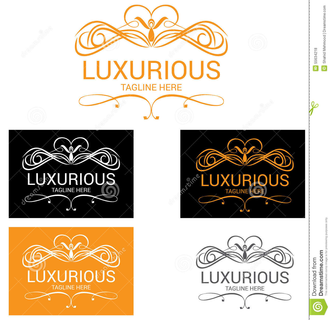 Luxury logo stock vector image 55634218 for Luxury hotel logo
