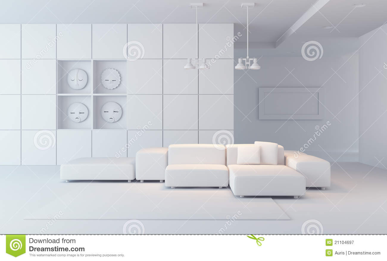 Luxury Lounge Room 3d Render Stock Illustration Image