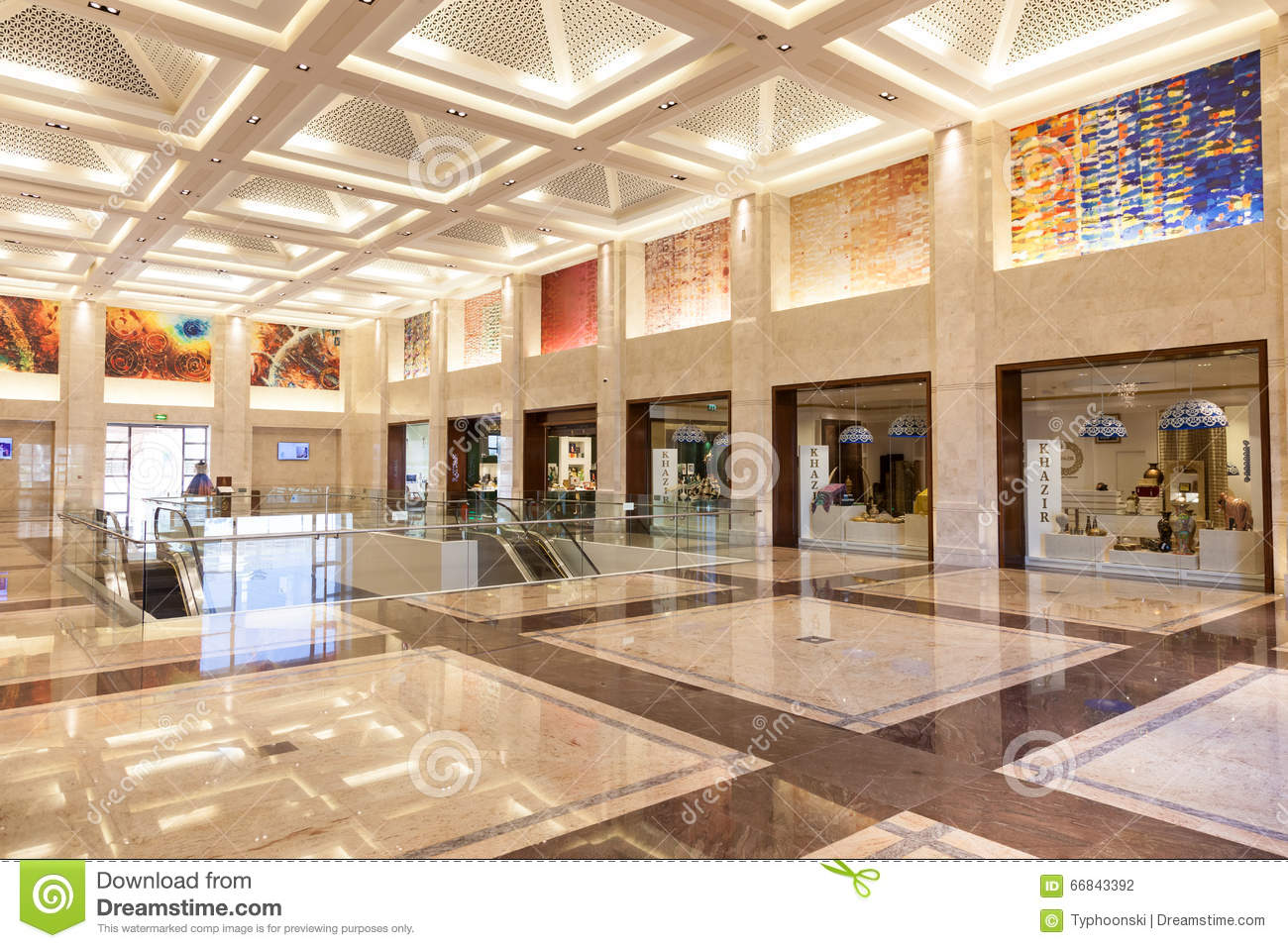 Luxury Mall In Muscat Oman Editorial Photography Image Of Inside