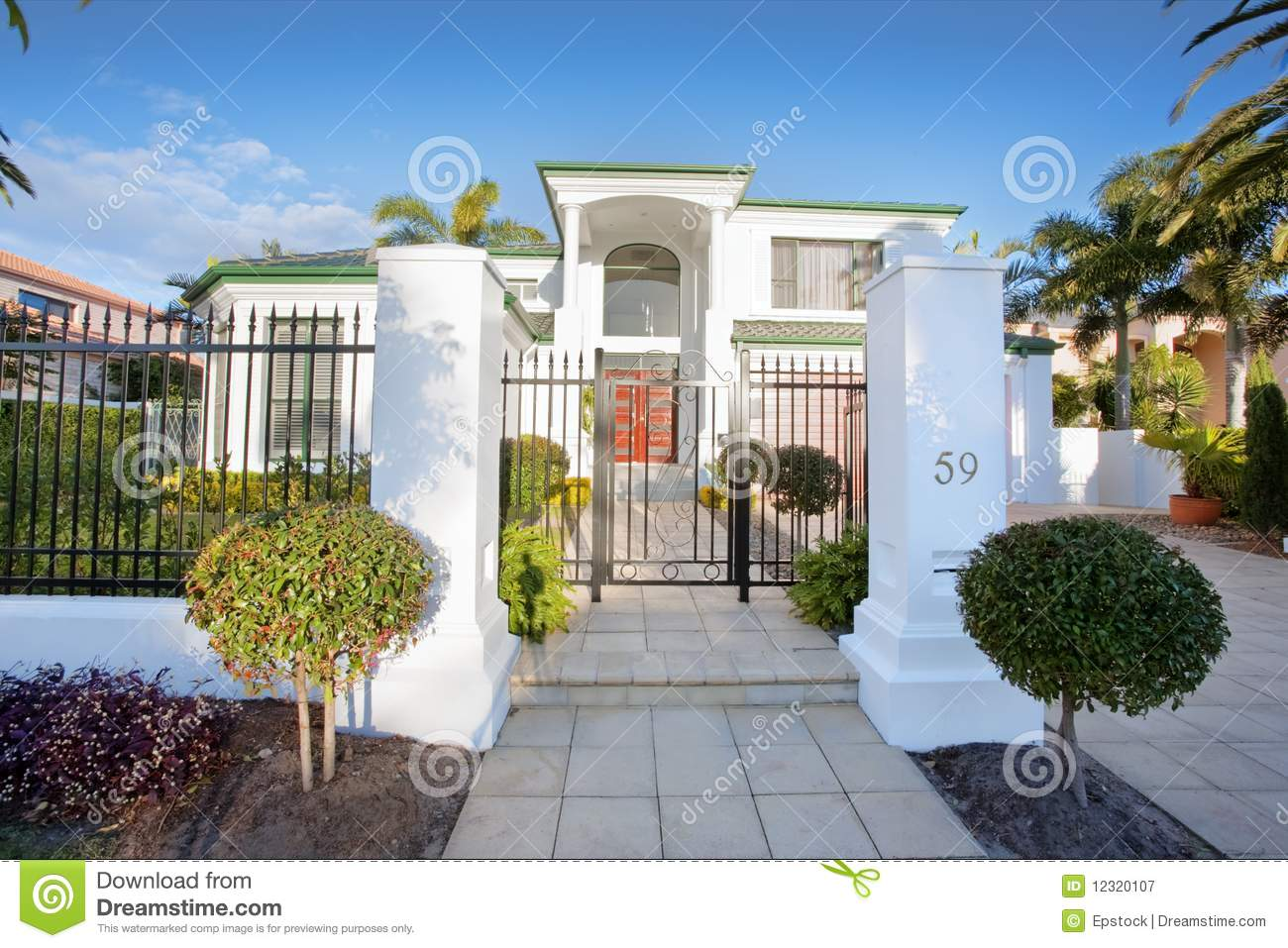 Luxury Mansion House Front Stock Image Of Domestic