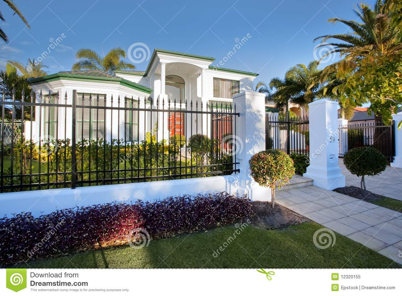 Luxury Mansion House Front Royalty Free Stock Photo