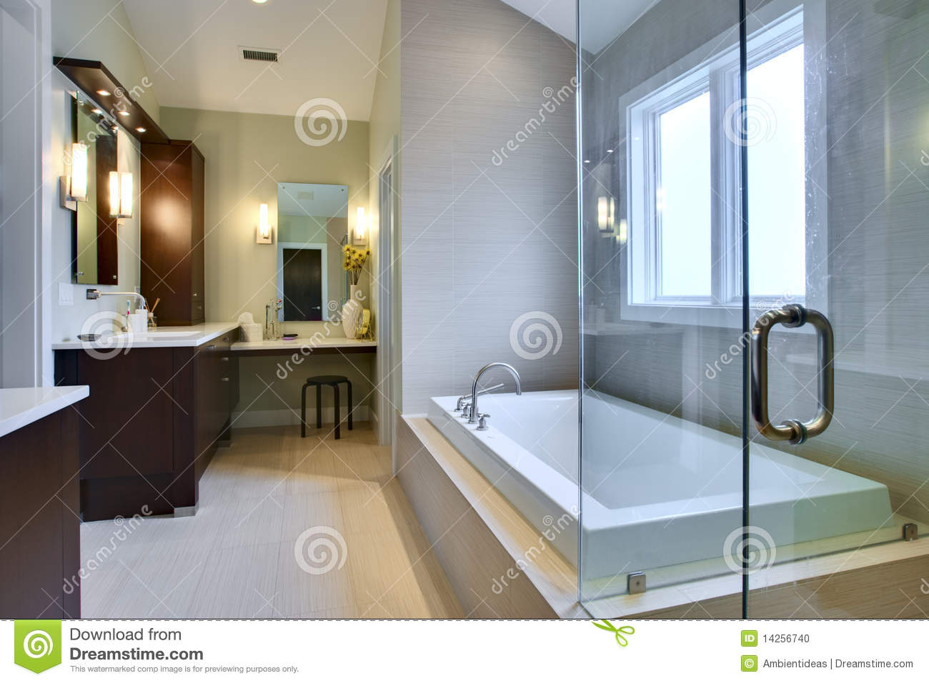 luxury master bath stock photo image 14256740