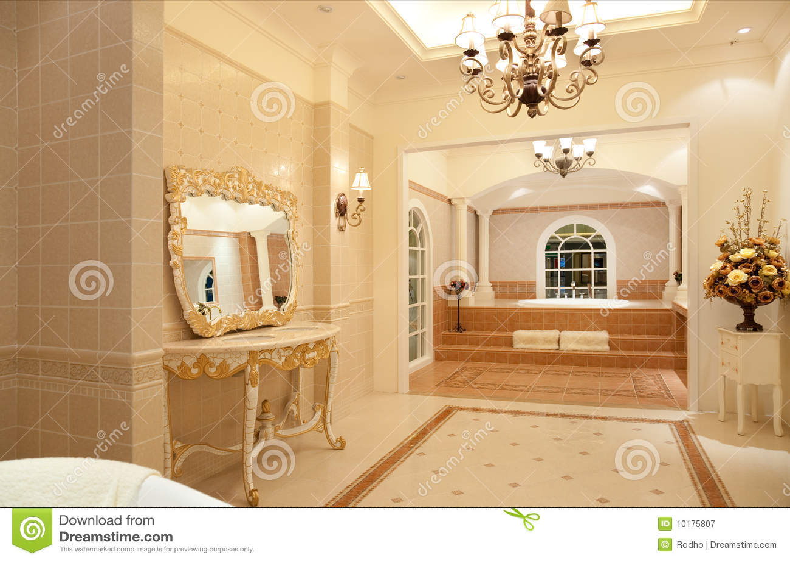 Luxury master bathroom stock image image of bathroom 10175807 - Image of bathroom ...