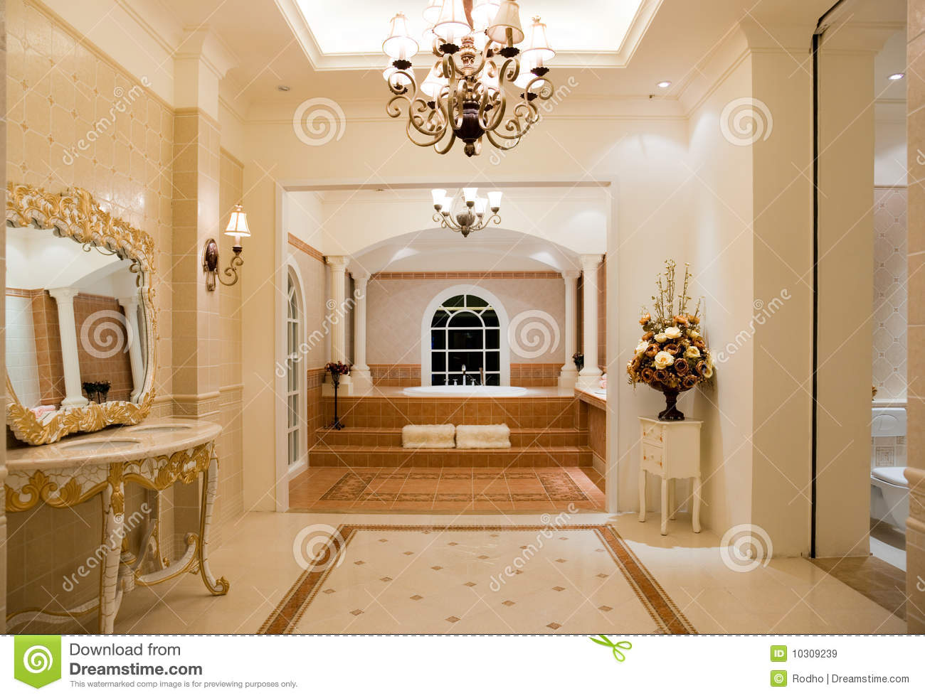 Luxury Master Bathroom Royalty Free Stock Images Image