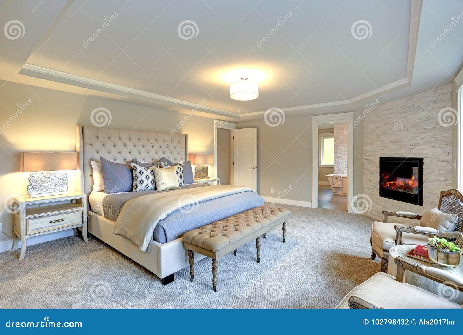 Luxury Master Bedroom Interior Stock Photo Image Of Bright Pillow 102798432