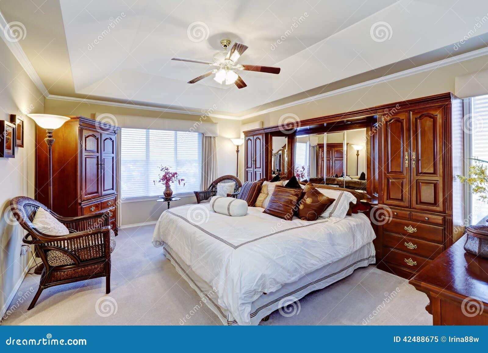 Luxury Master Bedroom Interior Stock Image Image Of American