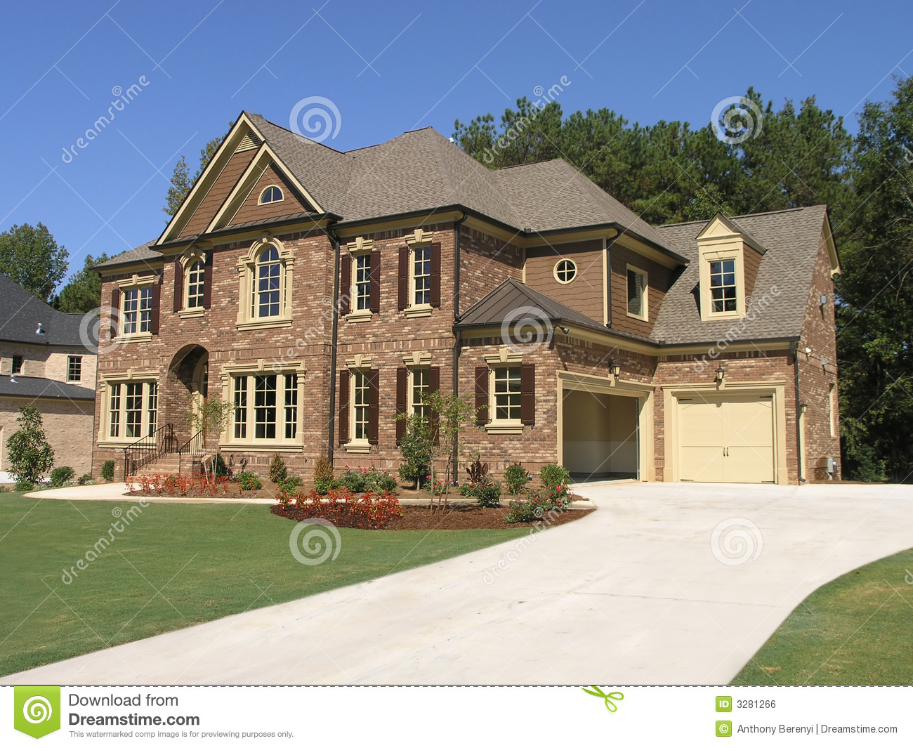Luxury mcmansion 3 royalty free stock image image 3281266 for Jerkinhead roof construction