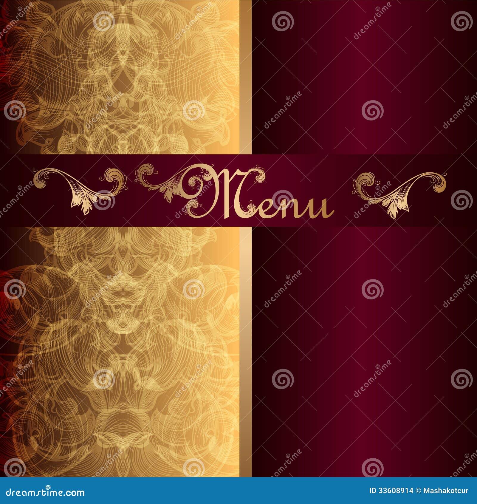 Luxury Menu Design In Vintage Style Stock Images - Image ...