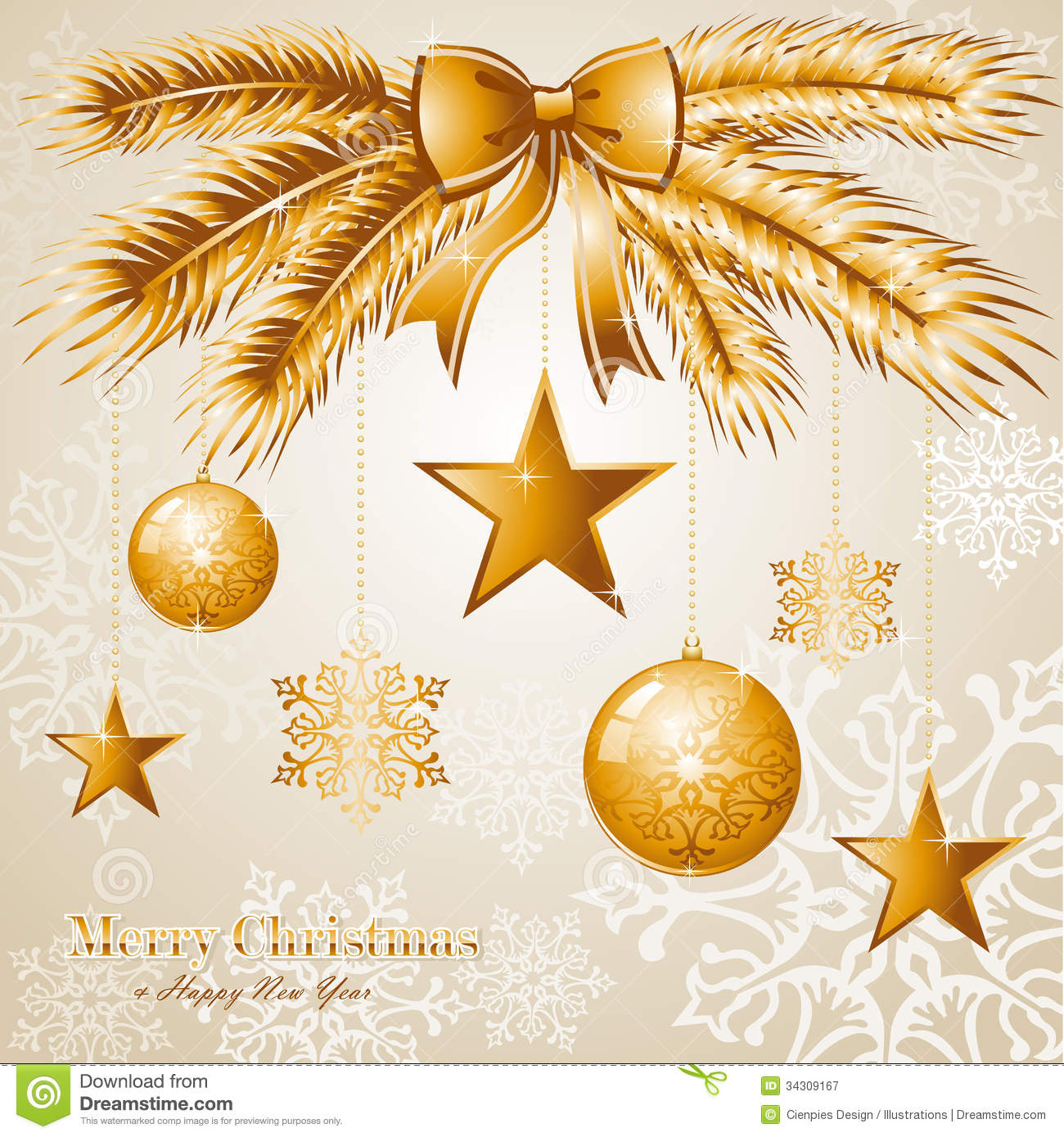 luxury merry christmas background eps10 vector fil