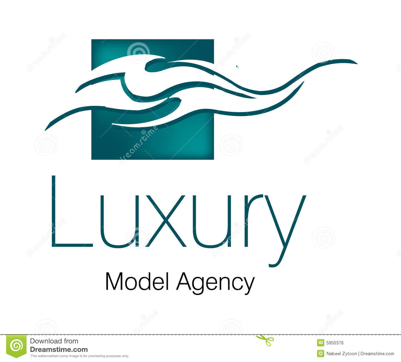 luxury model agency logo royalty free stock image image 5950376