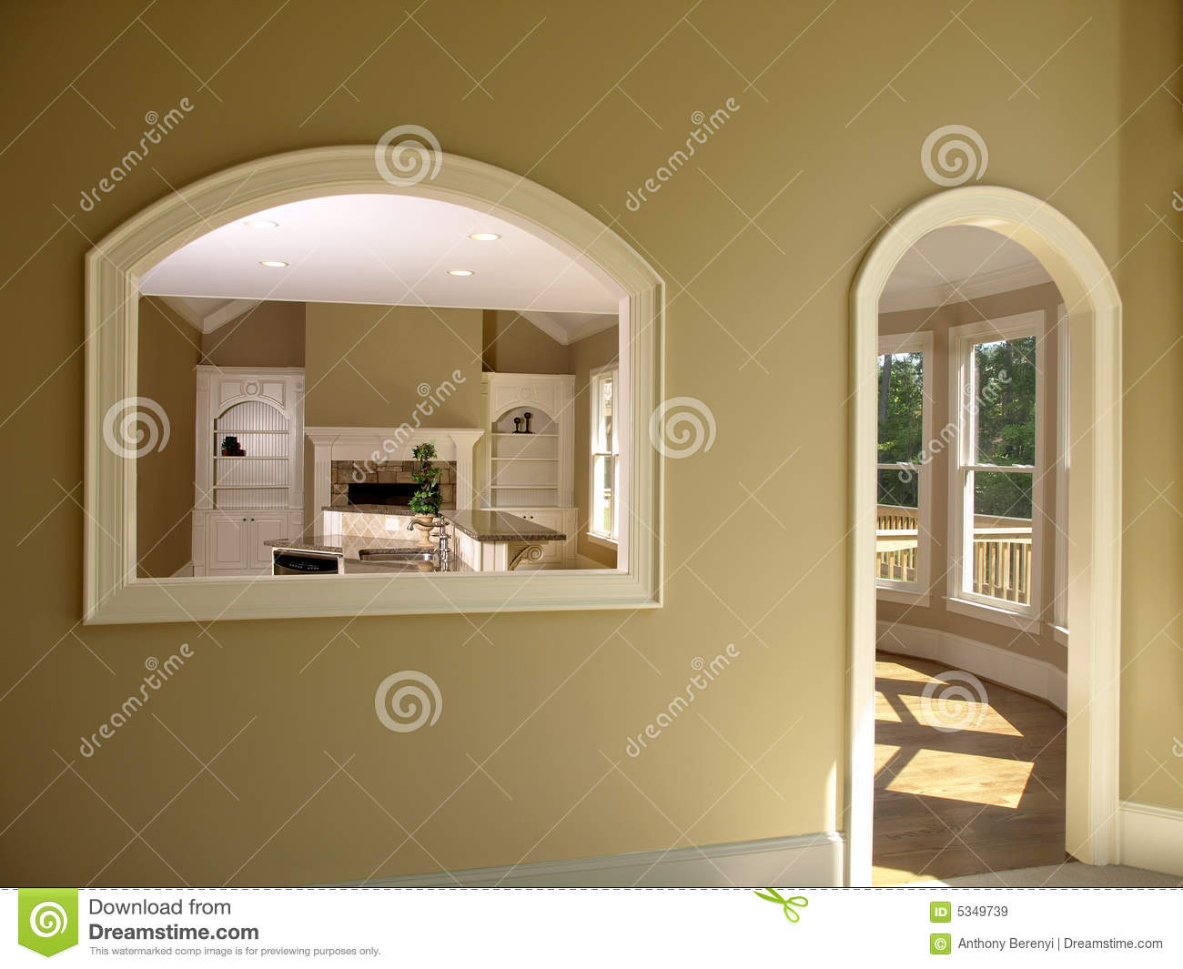 Luxury model home den opening 2 royalty free stock images for Luxury home models