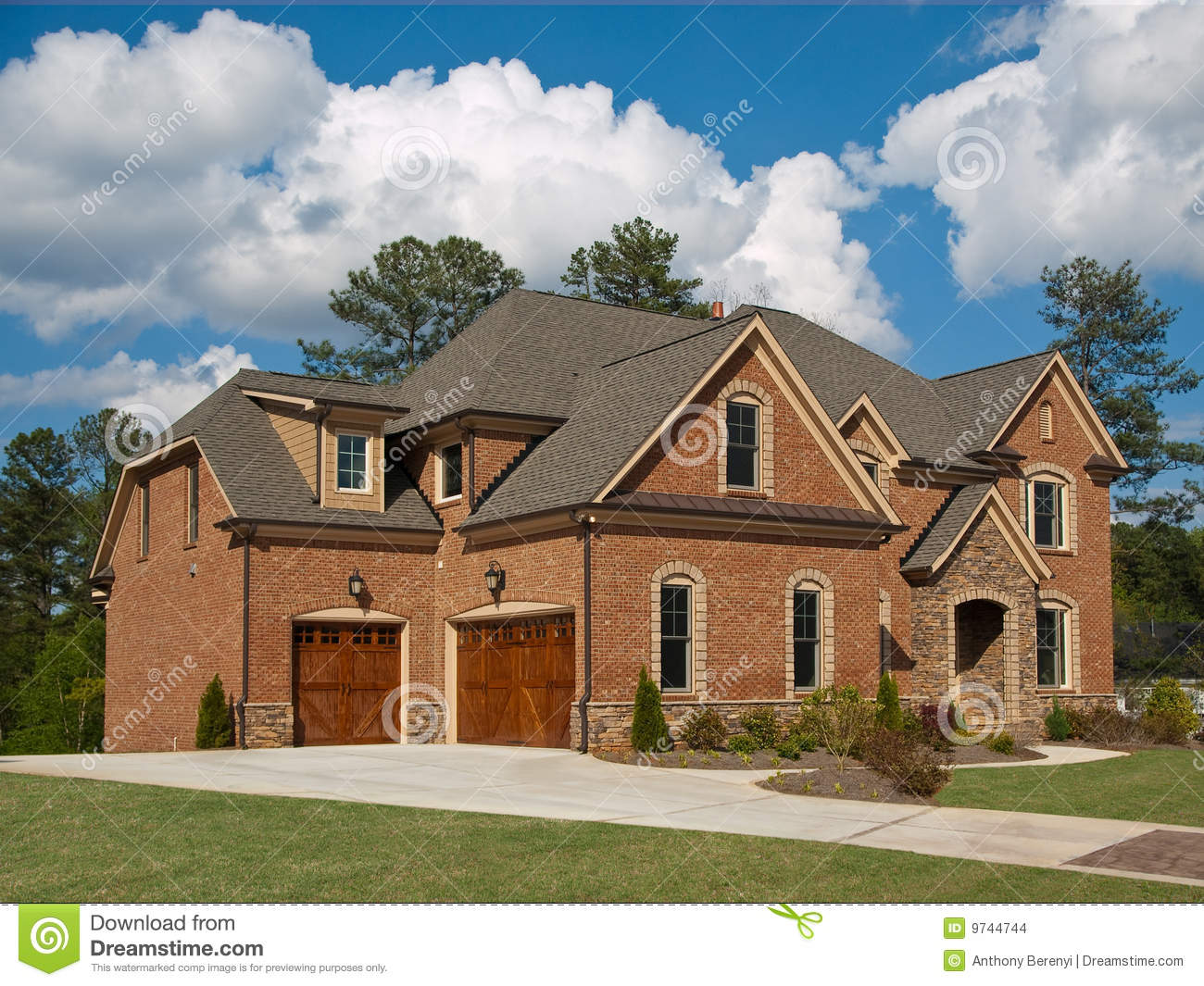 Luxury Model Home Exterior Cloud Sky Stock Images Image