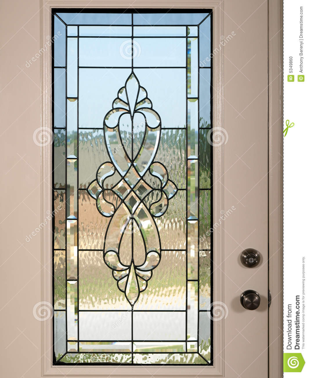 Luxury model home stained glass front door stock photo - Luxury Model Home Front Door 2 Stock Photo Image 5349860