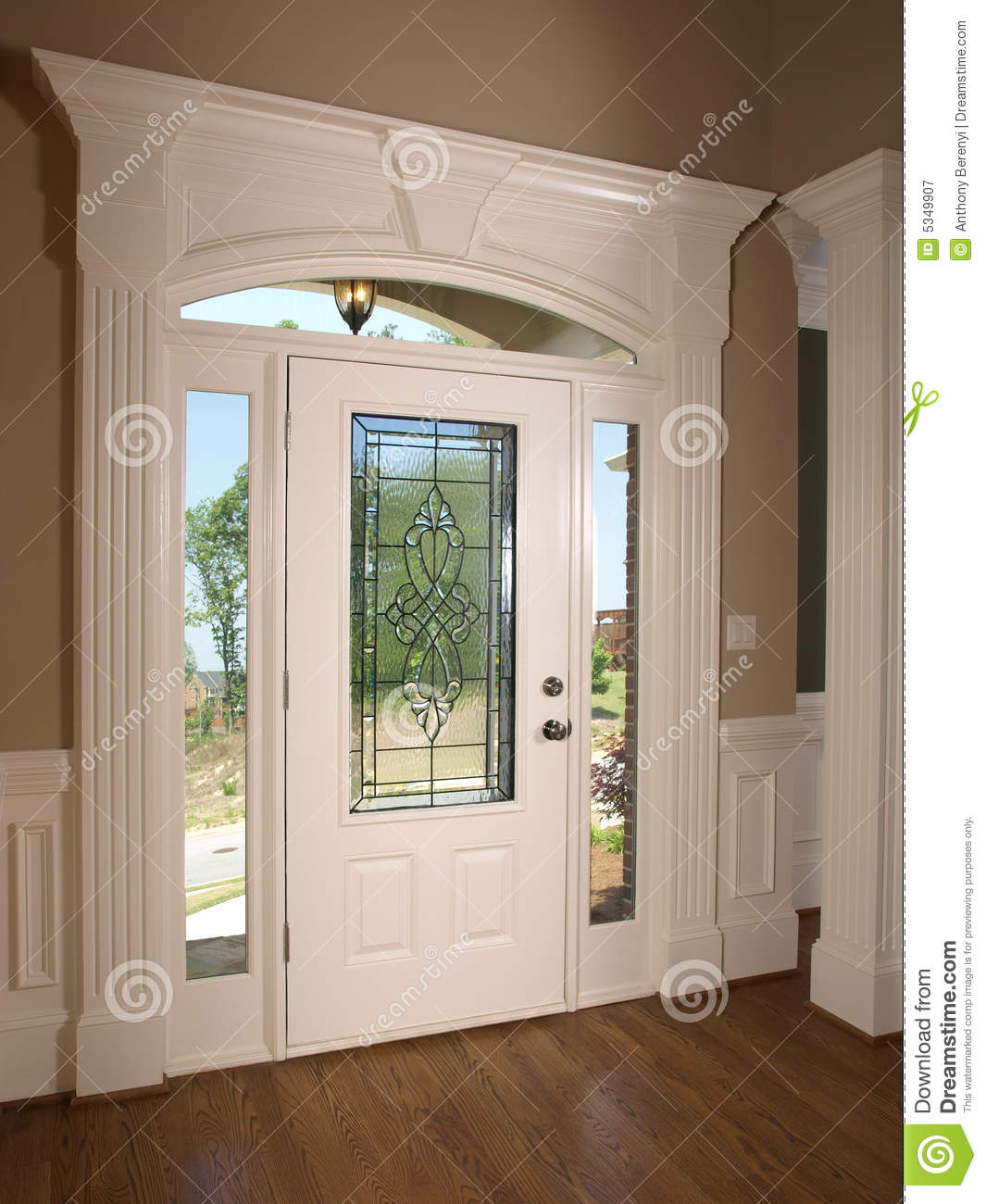 Luxury model home front door stock image image of foyer for Door models for house