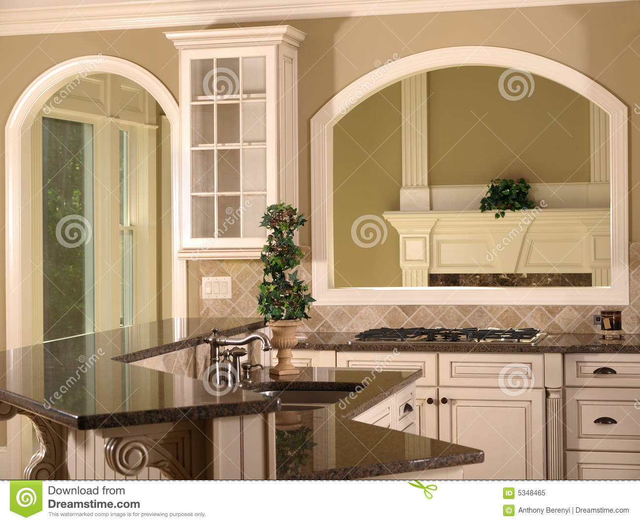 Luxury model home kitchen opening stock image image of for House kitchen model