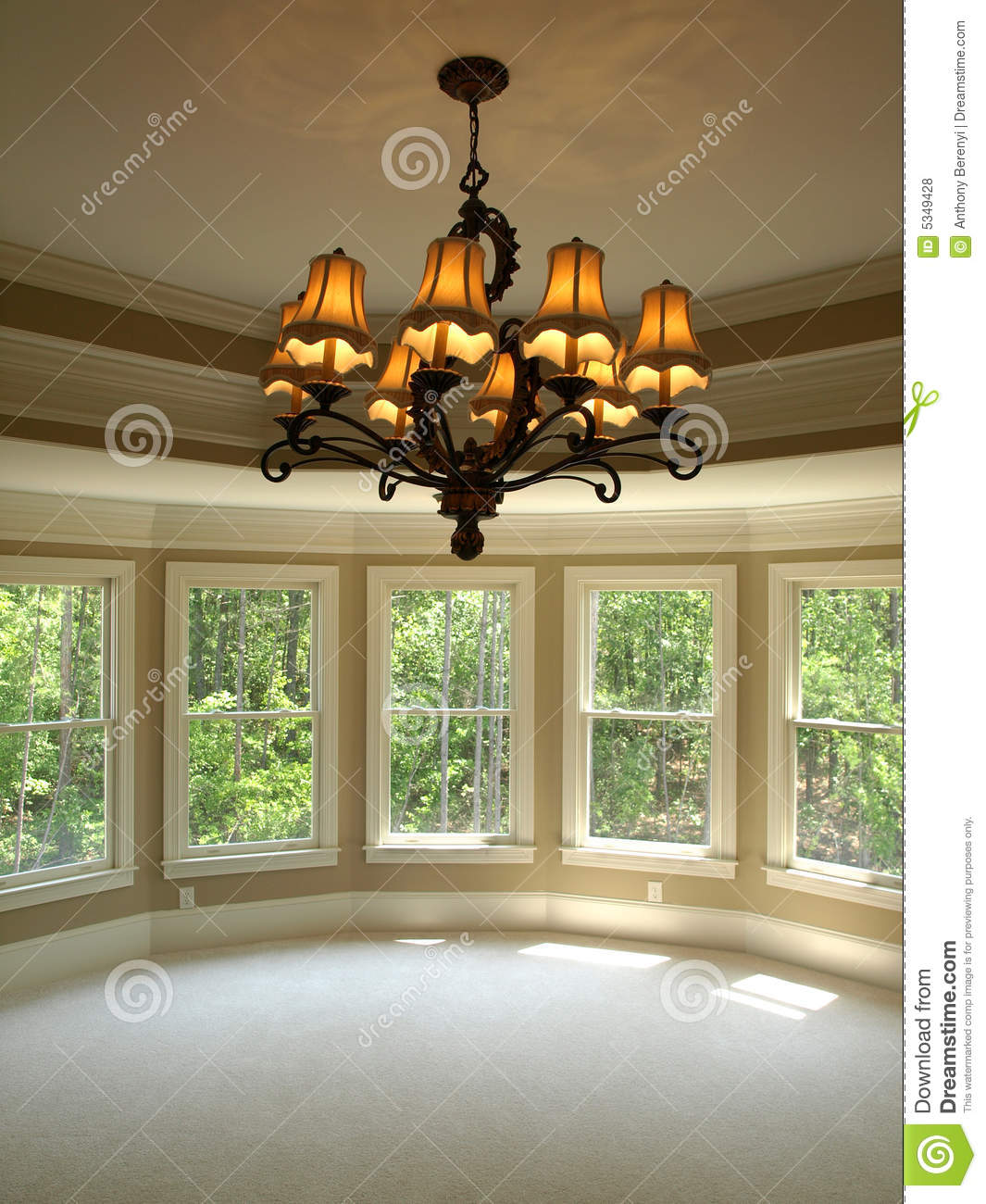 Luxury model home round master bedroom with light stock for Luxury home models