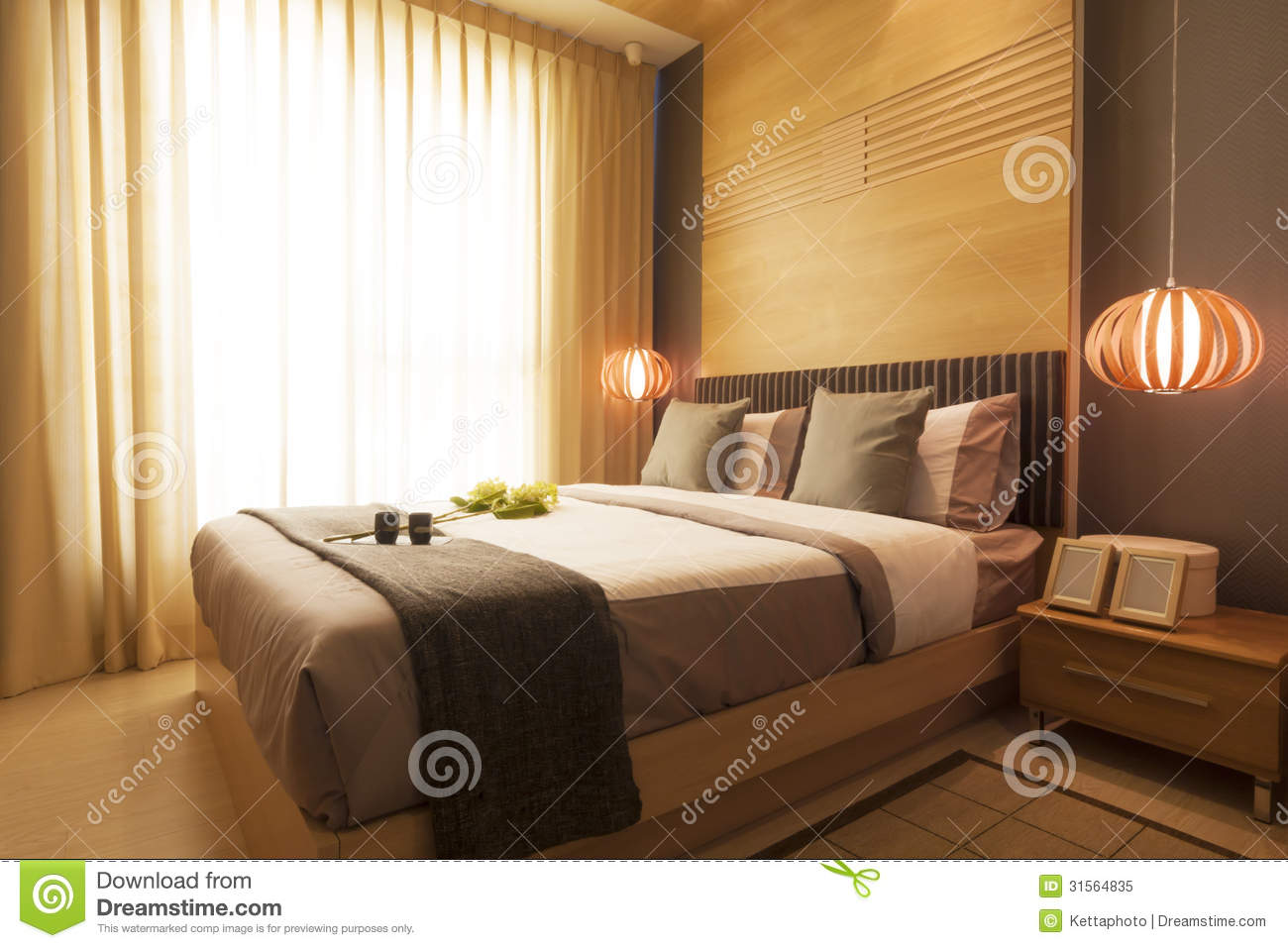 luxury modern bedroom royalty free stock photo
