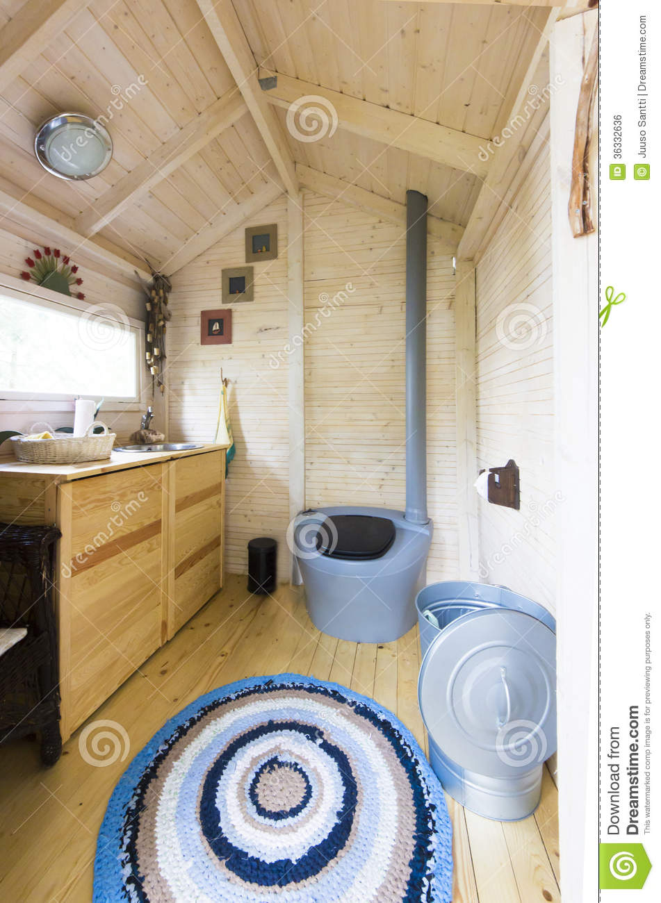 Luxury Modern Chemical Dry Toilet Cabin W Stock Photo