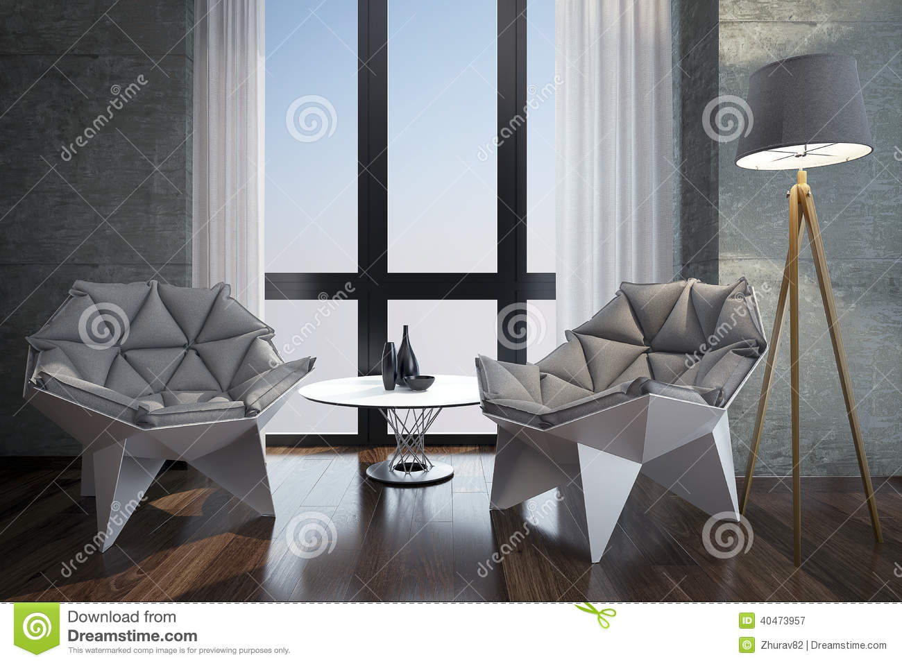 Luxury Modern Home Office. Stock Photo - Image: 39781784 - ^