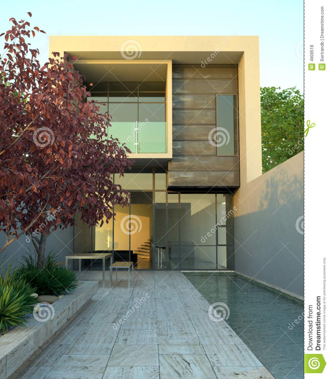 architecture. Luxury Modern Home With Pool Royalty Free Stock Photos   Image