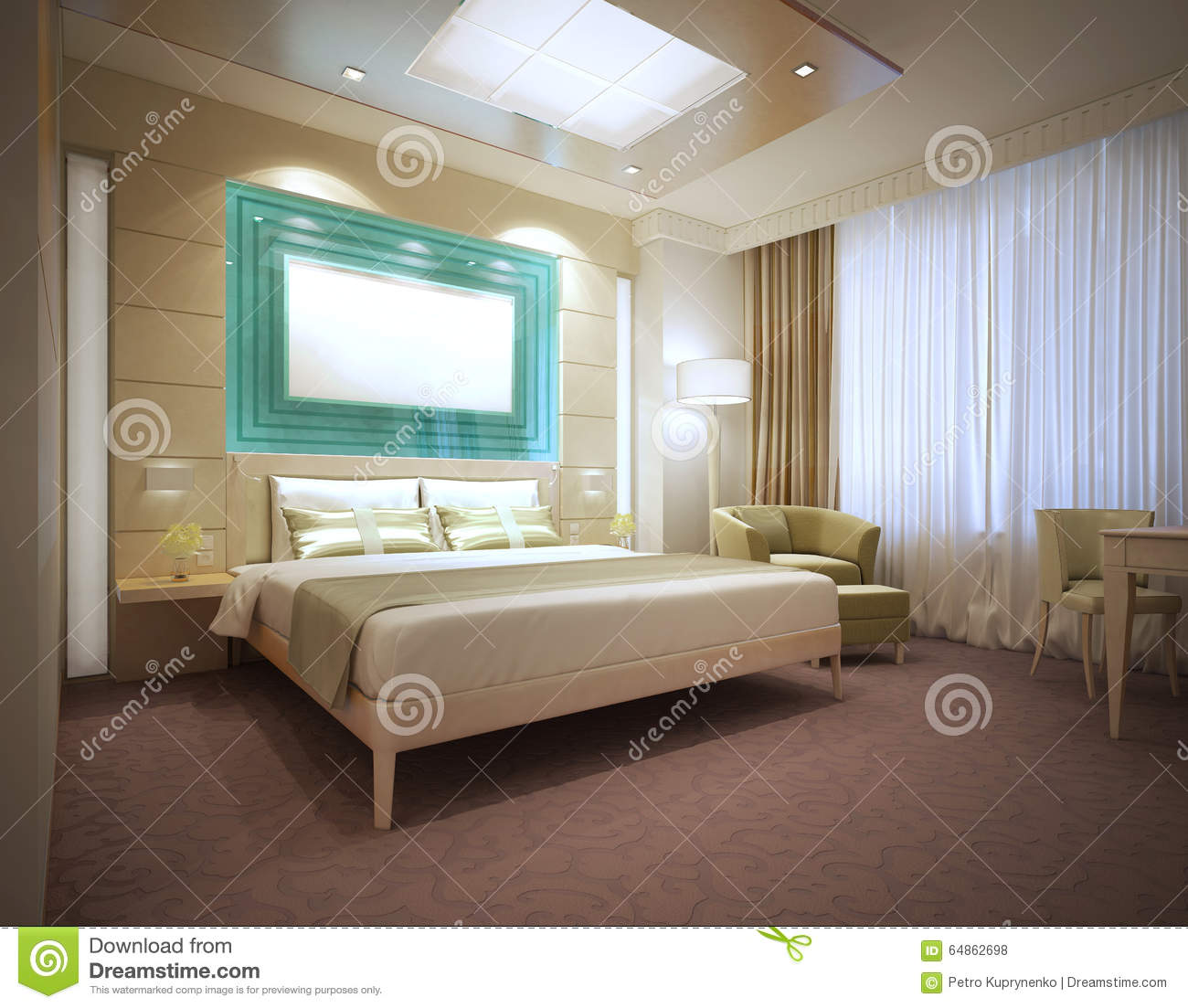 hotel bedroom lighting luxury modern hotel room in light colors stock photo 11806